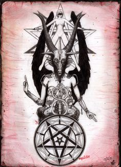 The Baphomet by pornosatan69.deviantart.com