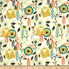 Cotton & Steel August Hide & Seek Green from @fabricdotcom  Designed by Sarah Watts for Cotton + Steel, this cotton print is perfect for quilting, apparel and home decor accents.  Colors include white, mustard, coral, teal, navy and shades of mint.