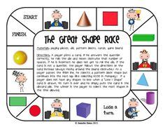 plane and solid shapes game-printable- fun way to learn about shapes - common core
