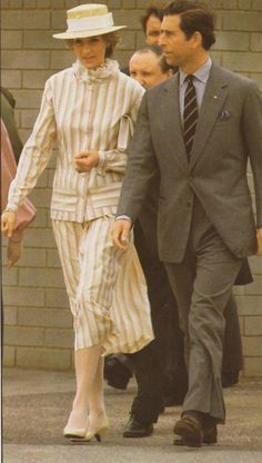 April 5th/1983~ Prince Charles And Princess Diana At Parks Community Center In Adelaide, Australia.