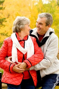 Stock image of 'Photo of two aged people looking at one another in autumn forest' Grow Old With Me, Growing Old Together, Autumn Forest, Eternal Love, High Resolution Picture, Photoshoot Inspiration, Forever Young, Gray Hair, Hugs
