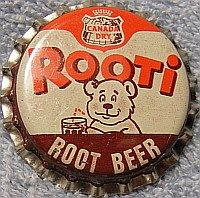 Canada Dry Rooti Root Beer, bottle cap | Canada Dry Ginger Ale, Inc., New York USA