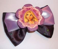 Tangled Rapunzel Purple and Lavender Hair Bow by JENSTARDESIGNS, $5.00