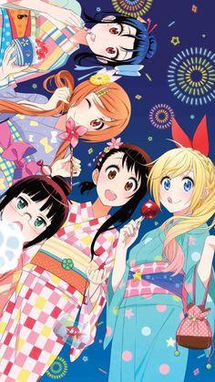 Read Nisekoi Manga Online in Hight Quality. Chica Anime Manga, Moe Anime, Anime Kawaii, Nisekoi Wallpaper, Naoshi Komi, Otaku, Naruto E Boruto, Fanart, Image Manga