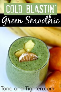 Cold or no cold - revisiting this #green #smoothie #recipe this week was amazing! Get yours from Tone-and-Tighten.com