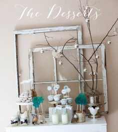 Set a yummy dessert table for your Winter Wonderland Party with these simple and tasty sweets.