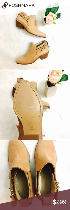 """Rag & Bone Sullivan Booties Gorgeous tan buttery leather designer booties. Rounded toe, 2"""" heel. Brand new without box 🌷 rag & bone Shoes Ankle Boots & Booties"""