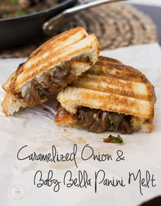 An adult grilled cheese sandwich with caramelized onions, mushrooms and gooey provolone cheese! | Little Spice Jar