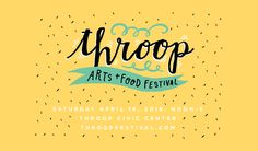 Throop Arts + Food Festival logo