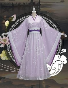 TV Series The Untamed Jiang Yanli Cosplay Costume Ancient Lady Clothin – Uwowo Cosplay Chinese Clothing Traditional, Traditional Dresses, Cosplay Outfits, Cosplay Costumes, Asian Style Dress, Dress Sketches, Dress Drawing, Gowns Of Elegance, Kimono Dress