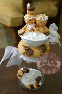 Frasco con cookies.