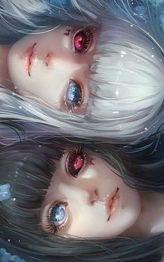 Sisters Kuro and Shiro / Tokyo Ghoul Anime Art ghoul Kuro Shiro Sisters tokyo Manga Anime, Art Manga, Fanarts Anime, Anime Eyes, Anime Characters, Yandere Manga, Manga Books, Manhwa Manga, Anime Naruto