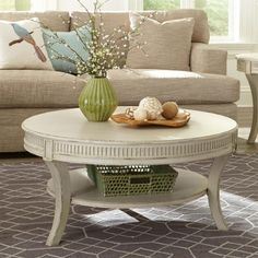 Riverside 10203 Huntleigh Round Coffee Table available at Hickory Park Furniture Galleries