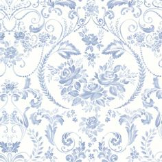"33' x 20.5"" Canne Floral Wallpaper"