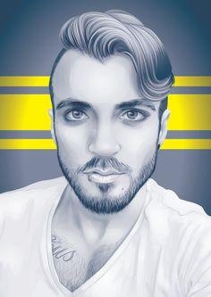 Cómo crear un retrato en escala de grises monocromas de vectores en Adobe…