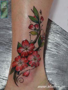 Tattoo Roman Migura - tattoo's photo In the style New School, Flowe Badass Tattoos, Cute Tattoos, Unique Tattoos, Beautiful Tattoos, Tatoos, Rose Tattoo Foot, Foot Tattoos, Fruit Tattoo, Ankle Tattoos For Women