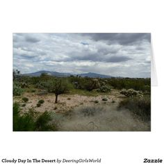 Cloudy Day In The Desert Card