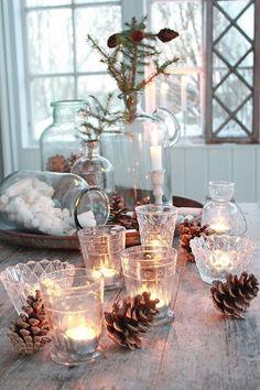 Draußen kalt, drinnen behaglich warm……8 herrlich anheimelnde Ideen für Kerzendekorationen! - DIY Bastelideen
