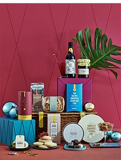 SELFRIDGES SELECTION Festive Fun (alcohol free) hamper Chocolate Hampers, Food Hampers, Chocolate Coins, Wine And Spirits, Alcohol Free, Xmas, Christmas, Party Hats, Tree Decorations