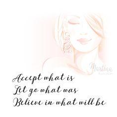 accept, let go, believe quote illustration