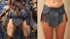 Wonder Woman cosplay costume skirt, genuine leather by HRoseLingerieArt on Etsy