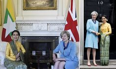 Theresa May welcomes Burma's Aung San Suu Kiy to No 10