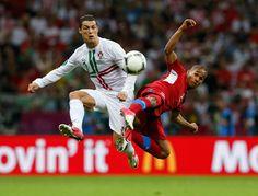 Cristiano Ronaldo (Portugal) vs. Theodor Gebre Selassie (Czech Republic)