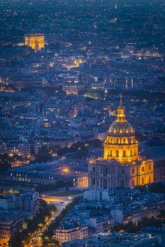 Hotel les Invalides and Arc de Triomphe, Paris