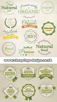 natural healthy organic food logo ideas www.cheap-logo-design.co.uk #organicfood #naturalfood #organiclogos