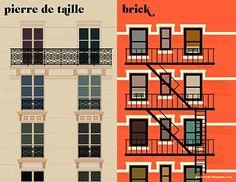 Paris vs. New York - illustration by Vahram Muratyan