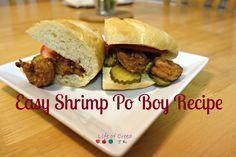 Easy Shrimp Po Boy Recipes via @Lifeofcreed