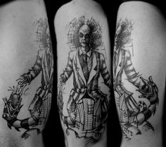 #tattoo #madrid #sketch #boceto #dibujo #skull #clown #man
