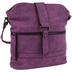Kabelky++Tapple+Dámská+oblá+crossbody+kabelka++16040+fialová+fialová+/+bordó+590.00+Kč