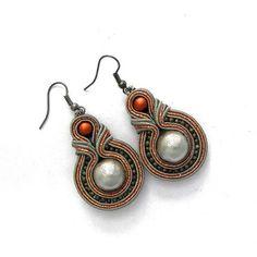 Soutache earrings, handmade, Jewelry, New earrings, Fashion Jewelry