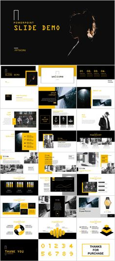 Yellow business magazine Report PowerPoint template on Behance #powerpoint #templates #presentation #animation #backgrounds #pptwork.com #annual #report #business #company #design #creative #slide #infographic #chart #themes #ppt #pptx #slideshow