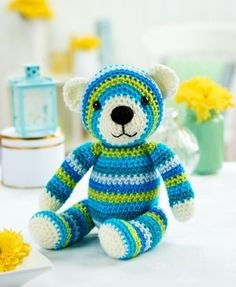 Walter Bear free crochet pattern download. More free patterns on this site.: