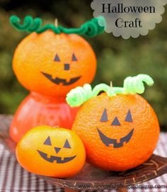 DIY Children's : DIY jack o'lantern fruit