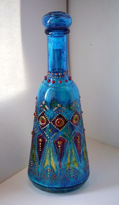 Painted bottle | Flickr - Photo Sharing!