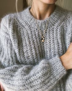 Pulli stricken September Sweater – PetiteKnit Do You Have All Of Your Garden Supplies? Sweater Knitting Patterns, Knitting Stitches, Free Knitting, Knitting Ideas, Mohair Sweater, Wool Sweaters, Big Sweater, Ensembles Outfit, Ravelry
