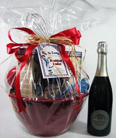 Waffle Lady Breakfast Basket with Prosecco