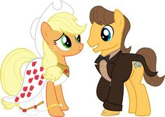 Pony Wedding Commission: Applejack x Caramel by Mokrosuhibrijac on DeviantArt