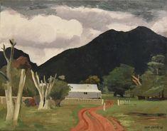 Rick Amor, Australia (b.1948) • Stormy Sky In The Grampians 1997 • Oil on canvas • Gift of Rick Amor • 2018.002 #RickAmor #Grampians #AustralianArt
