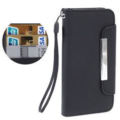 iPhone 5 wallet flip case / hoesje, zwart / black Iphone 5 Cases, Iphone 5s, Saddle Bags, Ipod, Samsung Galaxy, Wallet, Womens Fashion, Blue, Accessories