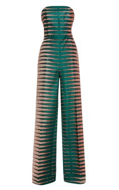 Shop Bergamot Wax Bustier Jumpsuit by Stella Jean for Preorder on Moda Operandi