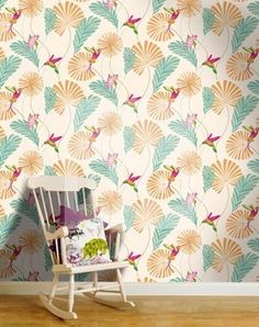 Hummingbird Wallpaper Kitchen Painting Home Trends Roomspiration