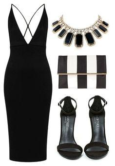 Сеты с черным платьем. 3