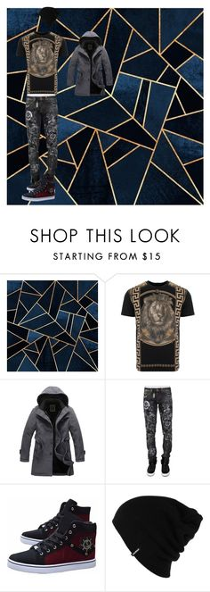 """""""30/09"""" by rasmus-herbst on Polyvore featuring Versus, Hooded Trench, Philipp Plein, Patagonia, men's fashion and menswear"""