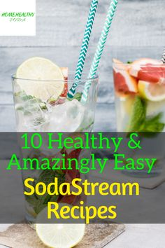 10 Healthy & Amazingly Easy SodaStream Recipes That You Dont Want to Miss Fruit Smoothies, Healthy Smoothies, Healthy Drinks, Healthy Snacks, Healthy Soda, Easy Healthy Recipes, Healthy Choices, Smoothie Prep, Smoothie Recipes