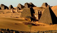 """Pyramids by the Nile. Egypt? No, Sudan. - NYTimes.com """"...the pyramids of Meroe. They are far smaller than the Great Pyramids of Egypt, but the setting, the stillness and the scope of the Meroe site are what make it impressive. About 200 pyramids stand deserted amid the dunes — the tops of many of them were lopped off in 1834 by the Italian explorer Giuseppe Ferlini in the mistaken belief that riches were buried inside. At sunset and again at dawn I walked the deserted site."""""""