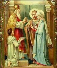 The Marriage of St. Joseph and Mary. I've never seen or heard mention of this before;love it.